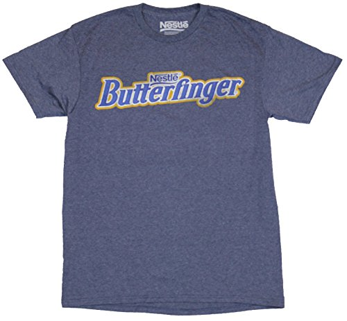 butterfinger-mens-t-shirt-distressed-nestle-classic-candy-bar-logo-image-extra-large-heather-blue