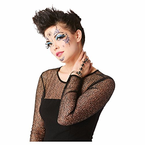 Women's Spider Face Temporary Tattoo one size fits most ()