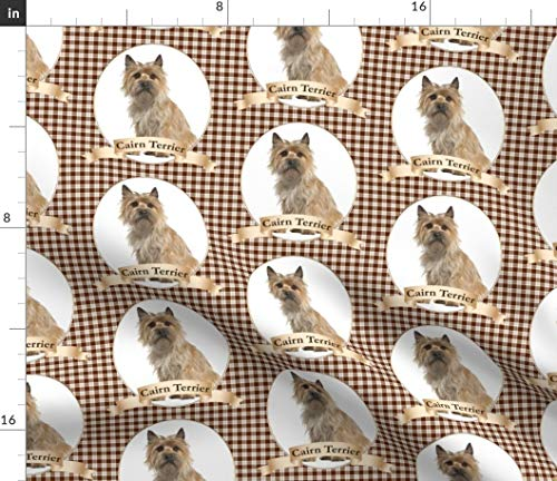 Spoonflower Cairn Fabric - Terrier Dog Pet Animal Portrait by Pateisen Printed on Petal Signature Cotton Fabric by The Yard