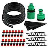 Distribution Tubing Watering Drip Kit with 82FT Hose 30 Drippers Irrigation Gardener's Drip System Perfect for Flower Bed,Patio, Garden Greenhouse Plants