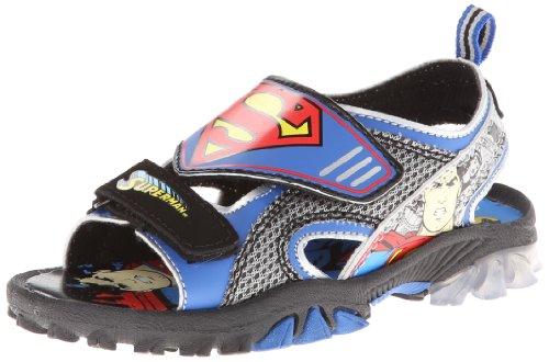 Marvel Boy's Superman? Lighted 1SUS602 (Toddler/Little Kid) Blue Sandal 11 Little Kid M