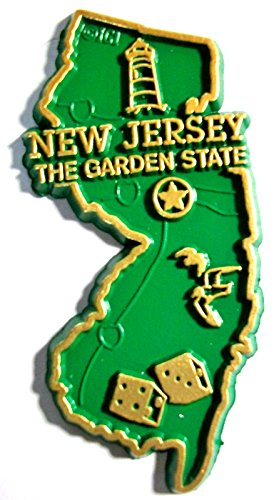 New Jersey The Garden State Map Fridge - Of Gardens Jersey Map