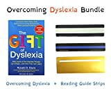 The Gift of Dyslexia by Ronald D. Davis + Reading Guide Strips for dyslexia (25 Pack/3 Sizes) with Storage Case | A New and Complete Science-Based Program for Reading Problems at Any Level | NEW!!