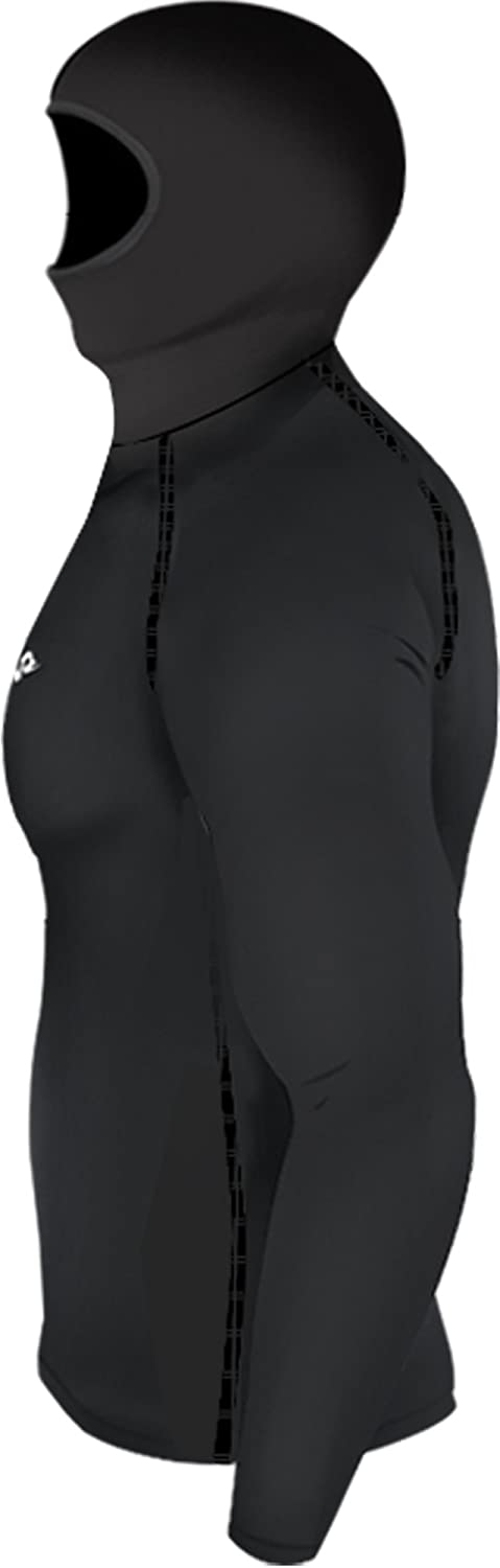 JustOneStyle New 108 Take Five Mens Hoodie Mask Sports Compression Skin Tight Top Black