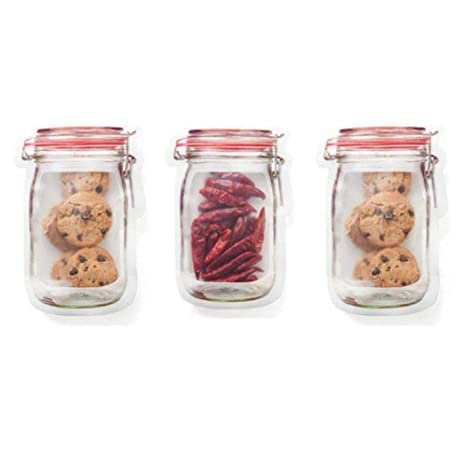 Amazon.com: Bolsa de almacenamiento de alimentos de silicona ...