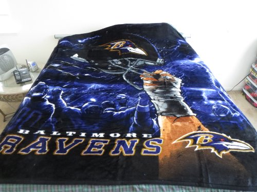 Northwest Baltimore Ravens Licensed NFL Team Blanket Throw