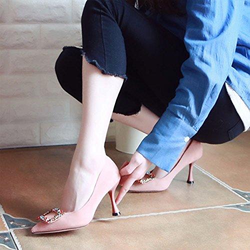 Femmes De Et Hauts Forage ZHUDJ De Pink De Talons L'Eau Printemps Chaussures Twxt5q8