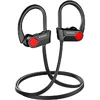 KUNGIX Audífonos Bluetooth 5.0, IPX7 Impermeable Auriculares Bluetooth Inalámbricos con Micrófono Incorporado, In-Ear Bluetooth con Reducción de Ruido para Deportes y Fitness