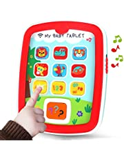 REMOKING Mini Baby Tablet,Kid's Learning Play Centre with Lights and Sounds, Toddlers,Boys and Girls Early Educational Development Toys for First Birthday