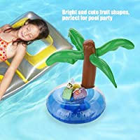 Aigend Soportes for Bebidas inflables - 6 Pack Piscina Drink Holder Holder Flotadores inflables Copa de Fiesta en la Piscina Beach Water Fun (árbol de Coco): Amazon.es: Hogar