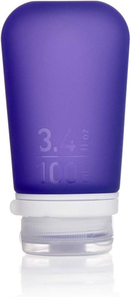 humangear GoToob+ Silicone Travel Bottle with Locking Cap, Large (3.4oz), Purple