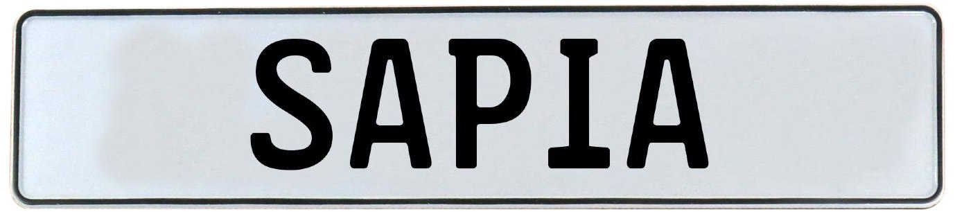 Vintage Parts 748895 White Stamped Aluminum Street Sign Mancave Wall Art (Sapia)