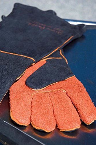 Steven Raichlen Best of Barbecue Extra Long Suede Grill Gloves (Pair) - SR8038 by Steven Raichlen Best of Barbecue (Image #1)