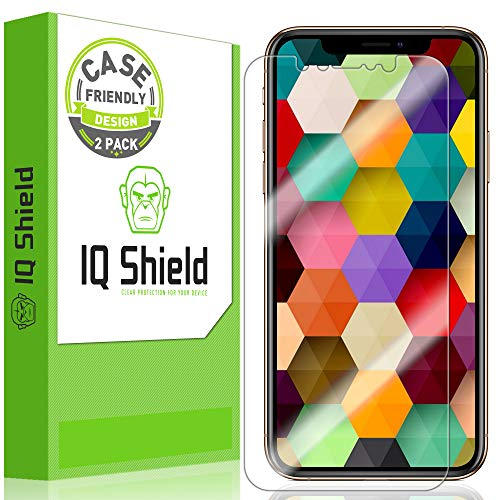 """[2-Pack] IQ Shield LiQuidSkin Clear [Case Friendly] Screen Protector for Apple iPhone Xs (5.8"""") Bubble Free Film"""