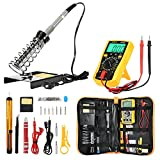 Soldering Iron Kit, Joyhero All in1 DIY Electric Soldering Iron,D60 60w 110v Soldering Equipment with Adjustable Temperature Welding Tool,Soldering Iron Stand,Digital Multimeter