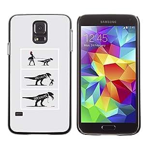 Ihec Tech DIVERTIDA - COMIC DINOSAURIO / Funda Case back Cover guard / for Samsung Galaxy S5