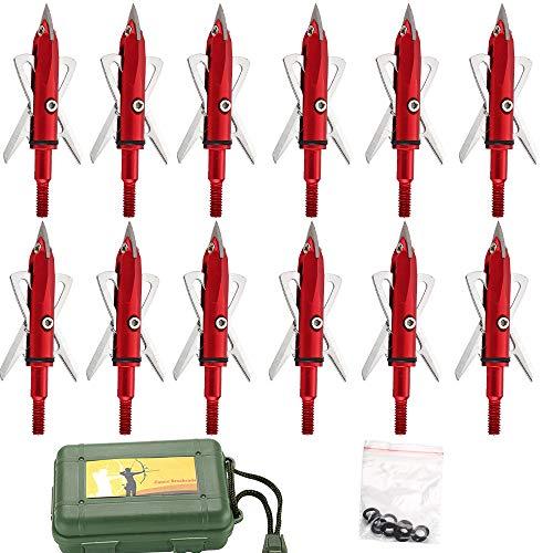 Jianuo 12Pcs 100 Grain 2 inch 2 Blade Cutting Diameter Arche