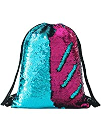 Sequin Drawstring Backpack Bag Mermaid Gym Dance Bags Magic Reversible Glitter  Bag Unicorn Gift for Girls 9e9604fd42ff6