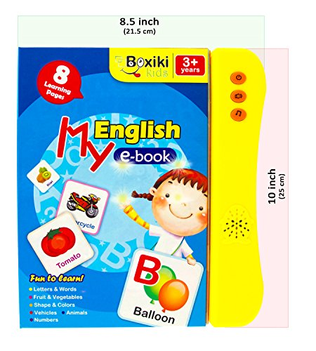 ABC Sound Book for Children / English Letters & Words Learning Book, Fun Educational Toy. Learning Activities for Letters, Words, Numbers, Shapes, Colors and Animals for Toddlers by Boxiki kids (Image #4)