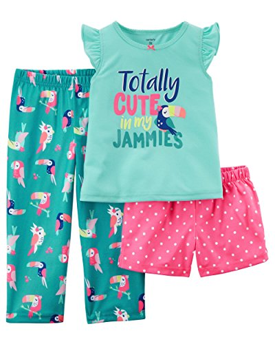 Carter's Girls' 12M-12 3 Piece Toucan Totally Cute in My Jammies Pajamas Set 12 Months ()