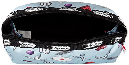 LeSportsac Medium Dome Cosmetic Case, Love Letters Blue, One Size by LeSportsac (Image #5)