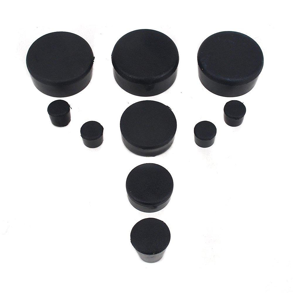 Black Motorcycle/Rubber Frame Fairings Plugs Covers Set For Kawasaki Ninja ZX10R 2004-2007