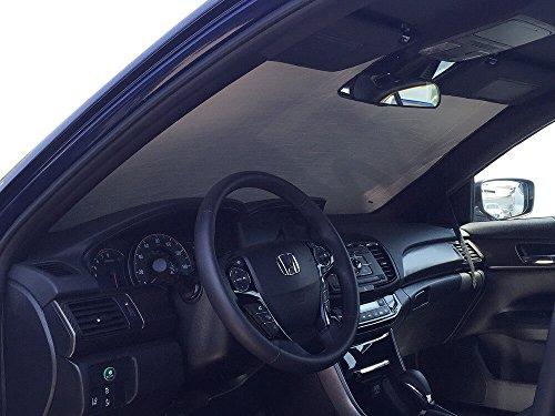 The Original Windshield Sun Shade, Custom-Fit for Honda Accord Sedan w/Sensor 2016, 2017, Silver Series