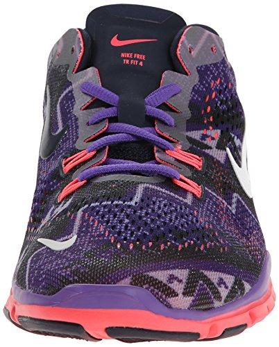 Nike Womens Free 5.0 Tr Fit 4 Stampa Obsdn / Ivry / Hypr Grp / Hypr Pnch