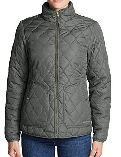 (Eddie Bauer Women's Year Round Quilted Field Jacket (Small, Capers))