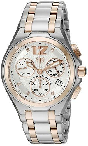 Technomarine Men's 'Manta Neo Classic' Swiss Quartz Stainless Steel Casual Watch, Color:Two Tone (Model: TM-215018)