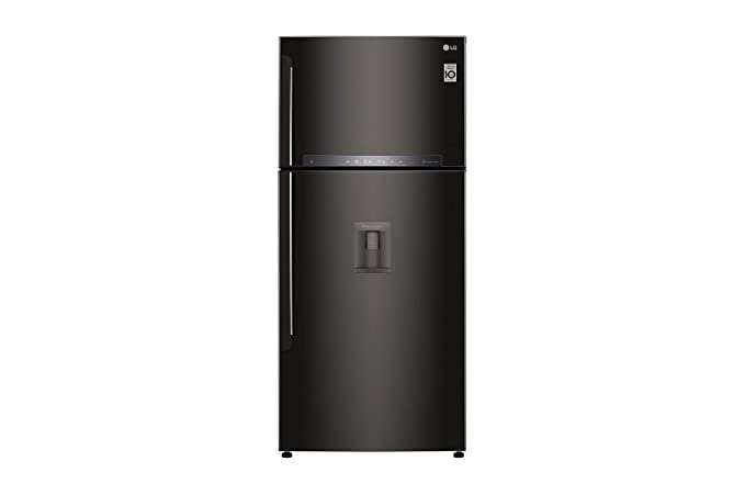 LG 547 L 3 Star Inverter Frost-Free Double-Door Refrigerator (GN-F702HXHU, Black) Refrigerators at amazon
