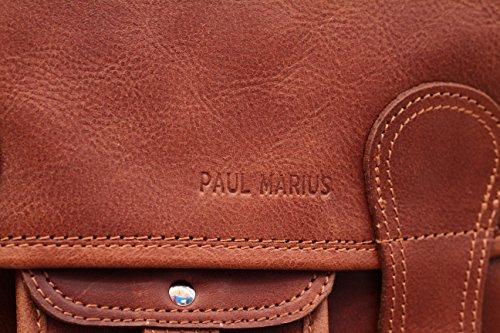 s Naturel Bandoulière Le Cartable Paul Marius Style Cuir Vintage Couleur Sac SqwxFIw5R