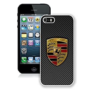 Personalized Porsche logo 4 iPhone 5 5s 5th Generation Phone Case in White