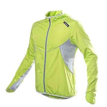 KINGBIKE Impermeable Chaqueta Ciclismo Deporte Chaqueta Ejecucion Ciclismo Bicicletas a prueba de viento manga de la capa de la chaqueta Ropa casual con ...