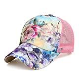 Best Flower Hats - ZLSLZ Women's Mesh Lace Flower Print Sun Hat Review
