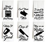Live Nice KITCHEN UTENSILS - SIX PACK - funny joke - Farm Flour Sack Kitchen Tea Towel