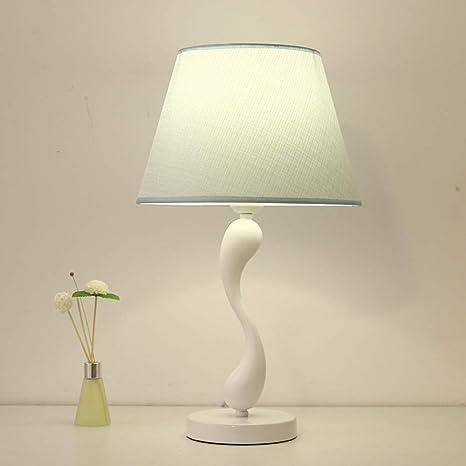 Lámpara de mesa de dormitorio lámpara de mesa azul lámpara de ...