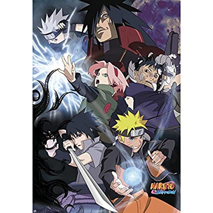 Grupo Erik Editores Poster Naruto Shippuden Groupe Guerre Ninja