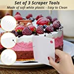 Cake Decorating Supplies 36 Pieces Cake Supplies with Revolving Plastic Turntable, 24 Stainless Steel Decorating Tips, 3 Plastic Scrapers, Icing Spatular, Pastry Bag 27 EVERYTHING NEEDED TO DECORATE CAKE - Cake turntable stand, 24 Stainless Steel icing Tip set, 1 Cake Decorating Turntable 11 inch , 1 Icing Spatula With Sided 11 inch, 1 Reusable Silicone Pastry Bags, 1 Cake Tip Brush,1 Cake Flower Lifter,1 Cake Pen, 3 Cake Scrapers, 1Piping Tip Coupler, 20 Disposable Pastry Bag. A MUST HAVE STAND FOR BAKING LOVERS - Make beautiful cakes with the Growses cake decorating supplies package. The rotating Cake decorating stand help you to easily decorate round cakes and other desserts for birthdays, parties, weddings and other events. The Round Turntable is robust, made from non sticky plastic, non-toxic, dishwasher safe, ideal for beginners as well as for professionals. MORE ICING BAGS FOR USING - 1 pastry bag and 1 disposable pastry bags, perfect for decorating with milti-color cream, Plastic Couplers can be easier to change piping tips.