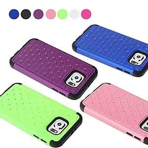 GX color sólido con el diamante contraportada para Samsung s6 galaxia (colores surtidos) , Purple