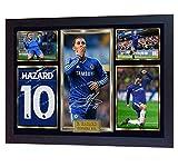 S&E DESING new Eden Hazard signed autograph photo print poster Football Chelsea Framed