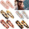 Ded 10 Pieces Resin Hair Clips For Women Acetic Acid Hairclips Hair Barrettes For Women Lady