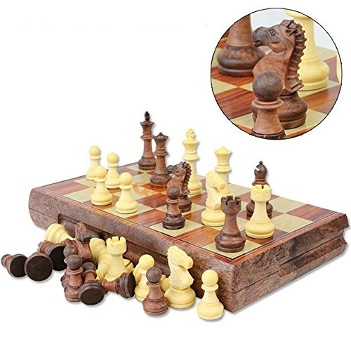 nonbrand Chess Set Magnetic Chess Travel Chess Set with Folding Chess Board Travel Board Games Professional Chess Pieces for Adults Kids, Craftsmanship, Durable and Lightweight
