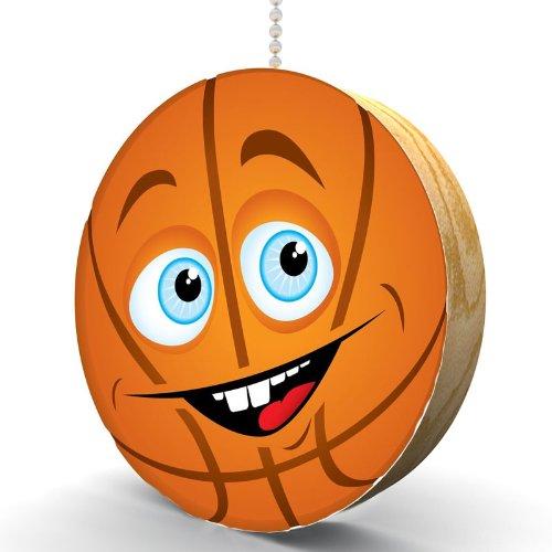 Happy Basketball Hardwood Oak Fan / Light Pull