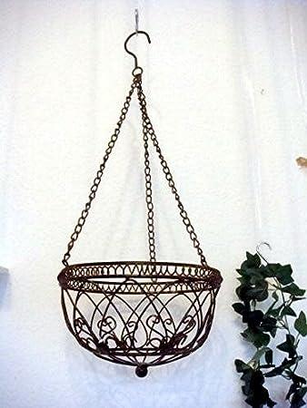 Interesting Blumenampel Aus Metall Hngekorb Kchenkorb Dekokorb Gartendeko  Hngeampel Deko Landhaus With Aus Metall