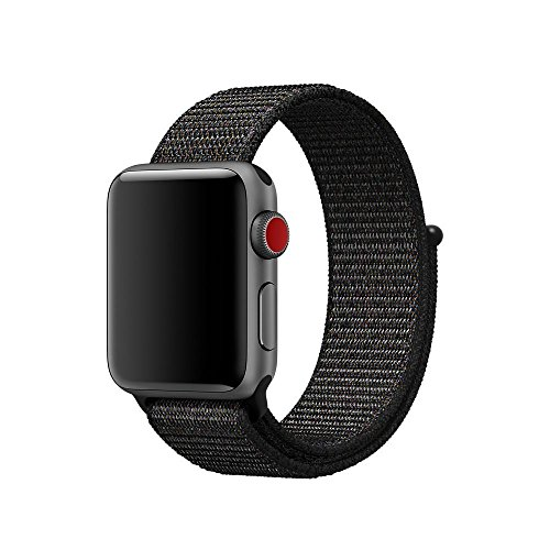 Nylon Sport Loop Band for Apple Watch Series 1, 2, & 3 (Black, 38mm) Review