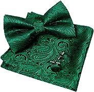 Alizeal Men's Paisley Bow Tie& Hanky& C