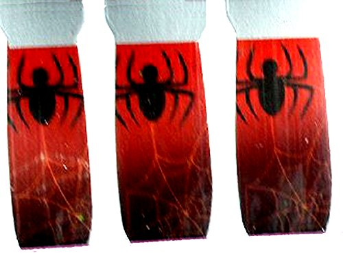 Gothic Nail Art Decals Polish Sticker Cosplay Witch Costume Accessory RED -