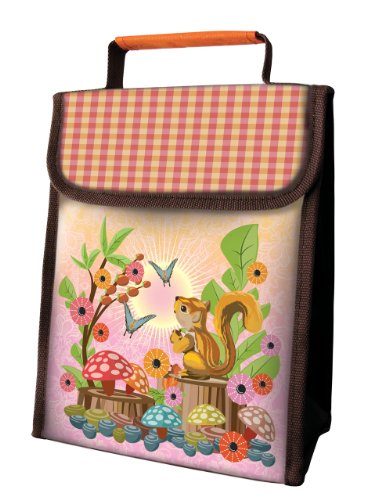 Coelacanth Insulated Lunch Sack, Squirrel, Orange