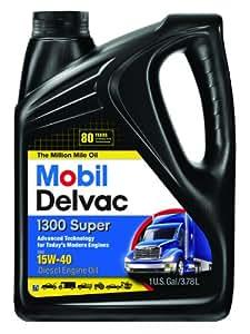 Mobil Super 96819 15W-40 Delvac 1300 Motor Oil - 1 Gallon (Pack of 4)